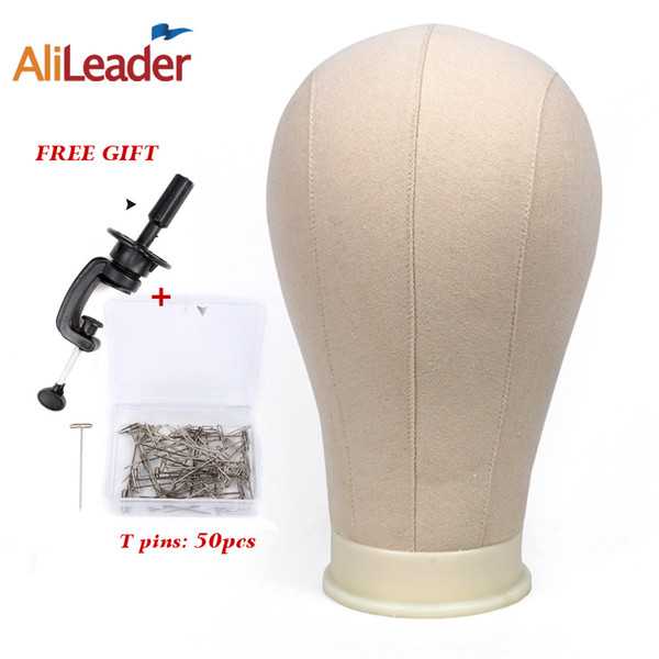 "Alileader Training Mannequin Head Canvas Block Head For Hair Extension Lace Wigs Making And Display Styling 21""/22""/23""/24""/25"""