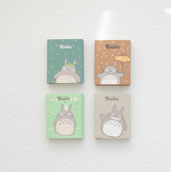 New Arrived Totoro 4 Folding Memo Pad N Times Sticky Notes Memo Notepad Bookmark Gift Stationery