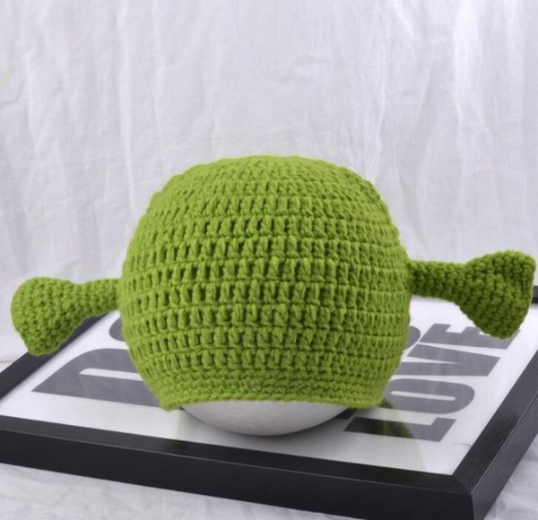 5af5de34b 2019 Green Monster Shrek Unisex Wool Cap Creative Funny Knitted Hat Pure  Handmade Hat Tide Adult Men And Women Crochet Beanie From Babymum, $3.15    ...