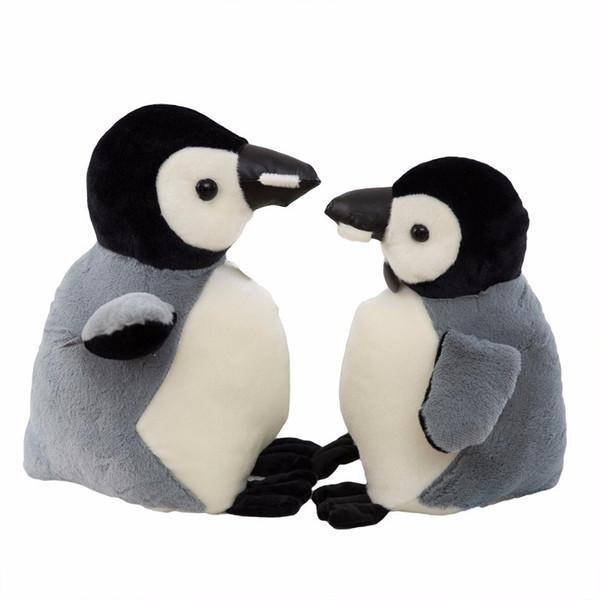 cute grey penguin doll plush toy valentine's day girl friend children's birthday gift