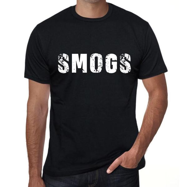 Smogs Mens Vintage Printed T-Shirt Schwarz Geburtstagsgeschenk 00553