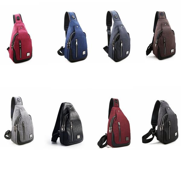 8colors Oxford cloth Chest Bag Multifunctional Small Male Messenger Crossbody Bags Fashion Shoulder Bag kids backpacks GGA879 12pcs