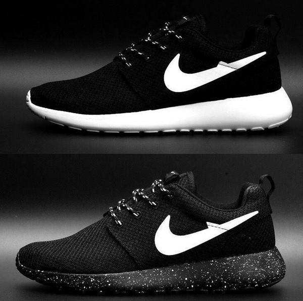 London Olympic designó a los zapatos corrientes de las mujeres y de los hombres negro blanco respirable zapatos ocasionales Cheap Online Sales