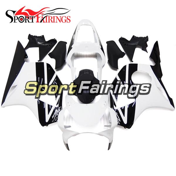 Inyección Brillante Carenados blancos negros para Honda CBR900RR CBR954RR 954 2002 2003 Kit de Carenado de la motocicleta de la ABS Bodywork Carenados de la moto