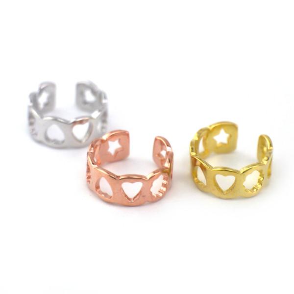 925 Solid Sterling Silver Fashion Jewelry Star Moon Sun Heart Simple Cuff Single Earring Jewelry A1760