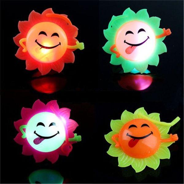Luminous Sunflower Led Light Up Toys Doll Funny Baby Kids Birthdays Gift Color Random H361