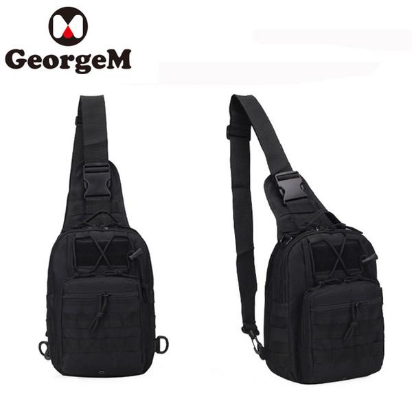 GeorgeM Bike Bag Herren Outdoor Sports Schulter Taktische Gürteltasche Rucksack 600D CS Sport Camping Wandern Radfahren Tasche