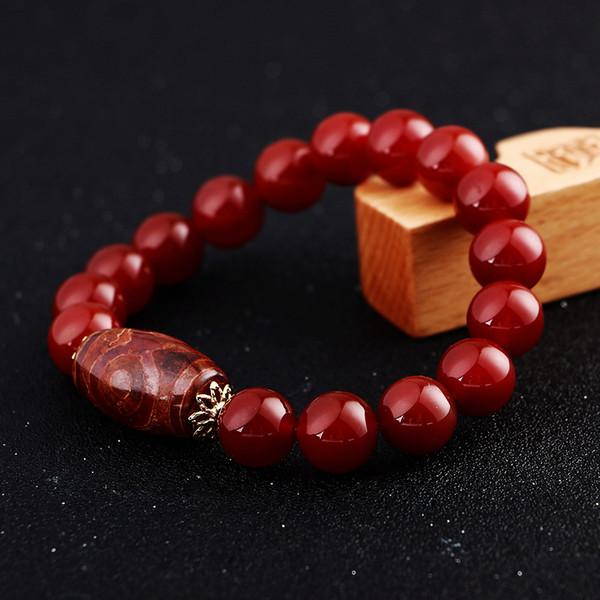 8mm Männer Armband Achat Buddha Perlen Naturstein Modeschmuck Power Chakra Healing Balance Beadslgbt Handgemachte Novidades