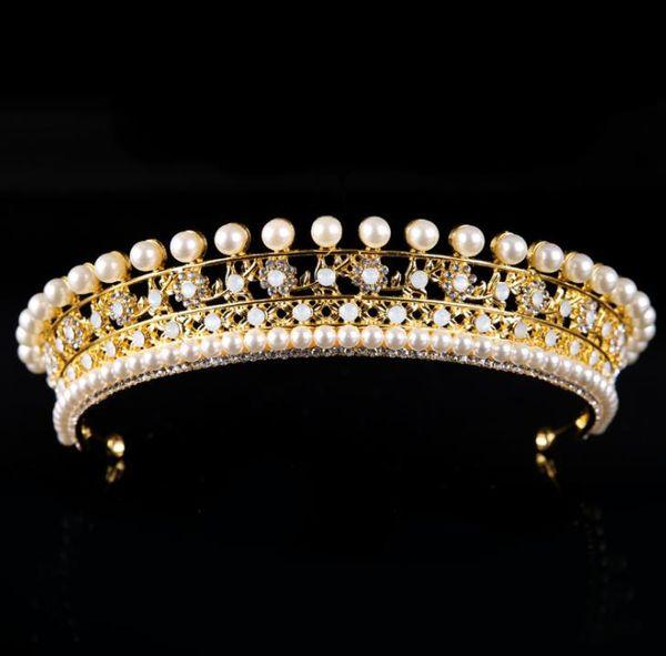 Bridal headwear pearl gold and silver diamond crown wedding dress accessories crown crown ornaments
