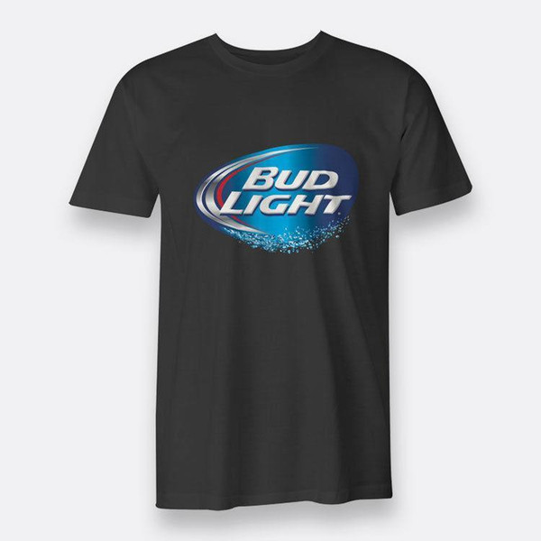 Bud Light Beer Black Tee T-shirt Men's sz S-3XL