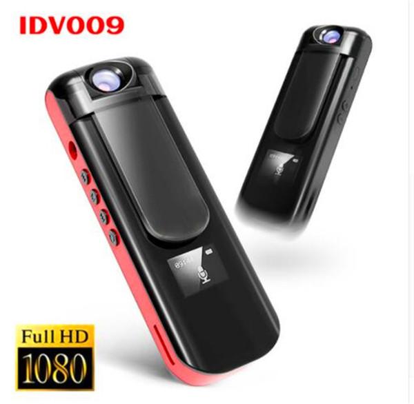 IDV 009 Mini-Kamera-Aufnahmestift 1080P Voller HD-Sport-DV-Camcorder Drehen Sie Objektiv Voice Video Recorder eingebauten MP3-Player Mini-DVR