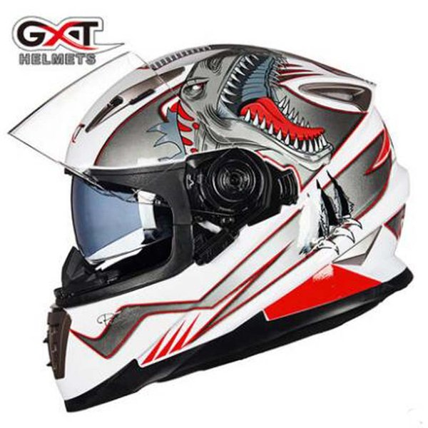 2017 new gxt motorcycle helmet men double lens full face motorbike helmets winter keep warm kinght protection safety helmet