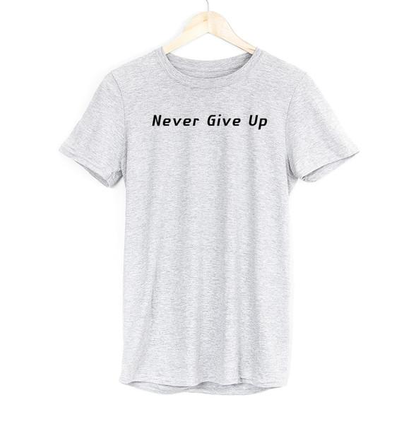 Compre Nunca Desista Dos Homens T Shirt Tops Ginásio Treino Motivação Esporte Motivacional Vestuário Engraçado Frete Grátis Unisex Casual Presente T