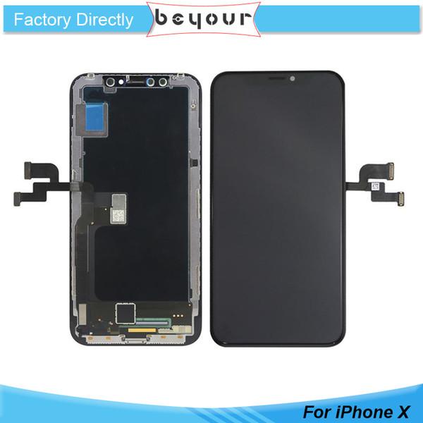 A +++ Grade Qualität LCD für iPhone X 10 LCD Licht Arbeits TFT OLED Touchscreen Display Digitizer Ersatz Ersatzteile Schwarz