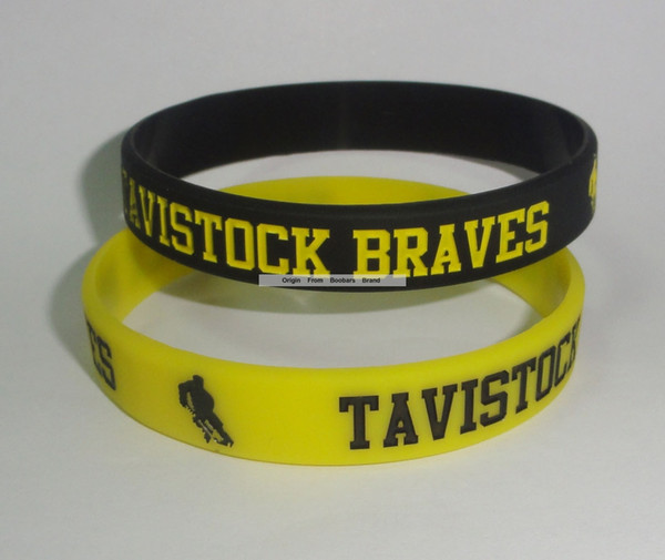 500pcs/lot custom Black sports silicon wristband Yellow Text Logo debossed Color Filled Cheap Company Gift Promotion