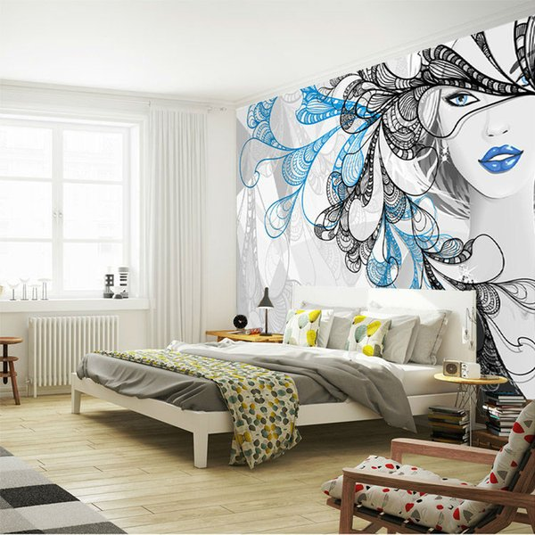 Fantasy Silver Girl Wallpaper Custom Wall Mural 3D Photo Wallpaper Bedroom  Beauty Shop Salon Room Decor Living Room Hallway Home Nature Wallpapers ...