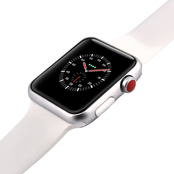 Magnetic Adsorption Wireless Charging Goophone Watch 3 Wearable Smart Watch 42mm Bluetooth 4.0 MTK2502C for iPhone XS Max XR Goophone S10 S9