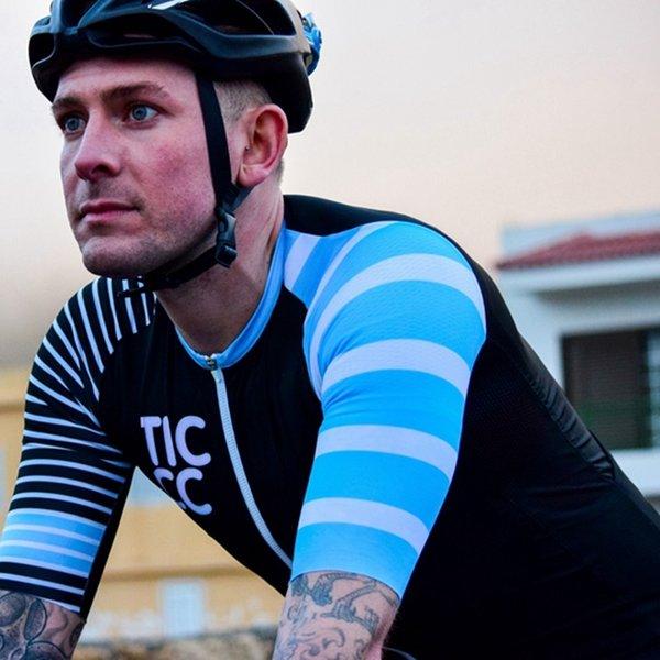 Ropa ciclismo 2018 Tic cc Jersey blu Team racing cycling Jersey Magliette da uomo in bicicletta si tratta di abbigliamento da ciclismo Cambridge