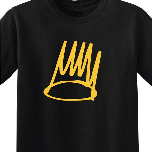 BORN SINNER - J. COLE MEN'S BLACK T-SHIRT WITH/GOLD PRINT - ALBUM ART