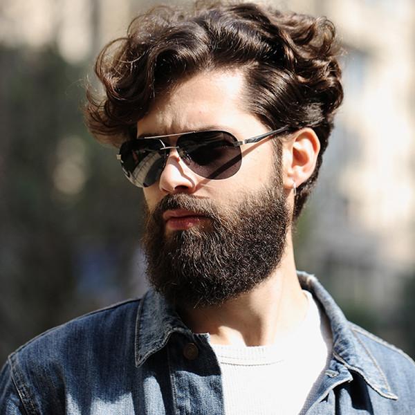 GY clássico óculos de sol dos homens polarizados piloto clássico óculos de  sol para homens marca b007bb0f0b