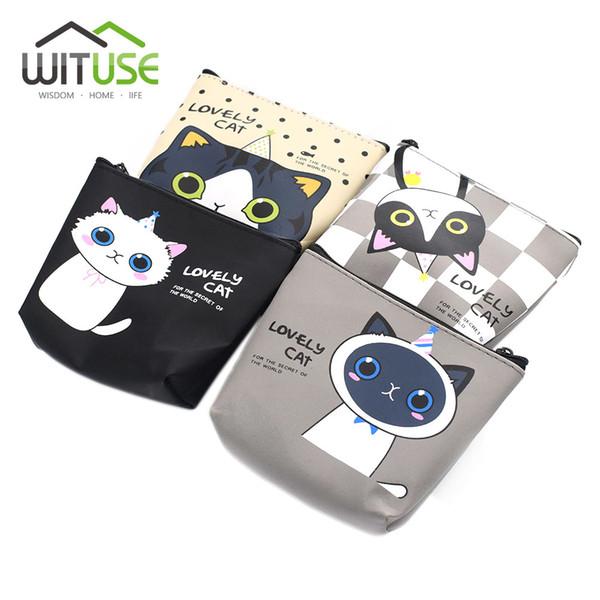 Cute Girl Kids Coin Purses Holder Kawaii Animal Cat Women Mini Change Wallets Money Bag Coin Bag Children Zipper Pouch Gift