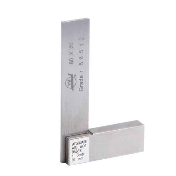 best selling Freeshipping 90 Degree Angle Gauge 80*50mm Stainless Steel Grade 1 With Wide Base Angle Ruler Marking Gauge Measure Tool