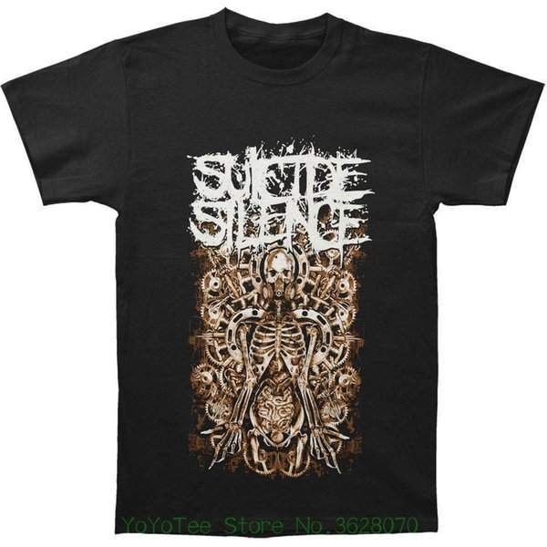 Short Sleeve Round Neck T Shirt Promotion Suicide Silence Men&#039 ; S Mangled Gears Slim Fit T-shirt Black