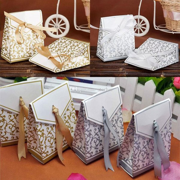 Gift Wrap Wedding Favour Favor Bag Sweet Cake Gift Candy Wrap Paper Boxes Bags Anniversary Party Birthday Baby Shower Presents Box WX9-1045
