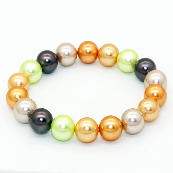 Surprise Party Gift Fashion Freshwater Shell Pearl Bracelet 18pcs Big Shell Pearl