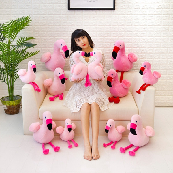 best selling Flamingo Plush Toys Pink Flamingo Stuffed Dolls Stuffed Animal Toy Home Pillows Cushion Christmas Gift 30CM Free Shipping DHW1646