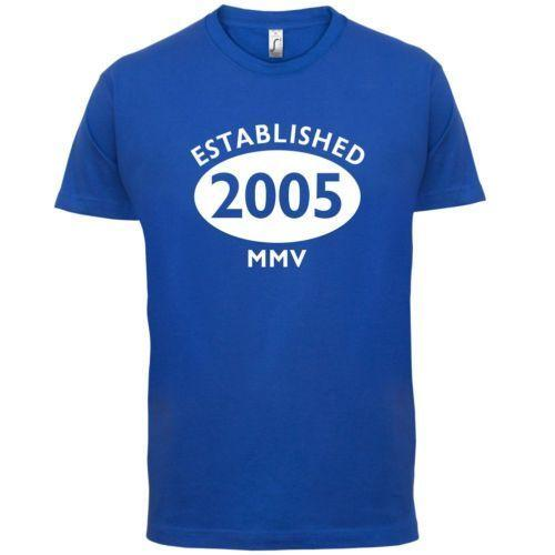 2005 Roman Numerals - 11th Birthday Mens T-Shirt 13 Colours Gift Present