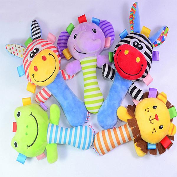 Toptan Satış - Toptan-1 Adet 0-12 Ay Bebek Oyuncakları Yumuşak Peluş Çocuk Çıngırak Yatak Çan Squeaker Oyuncak Bebek Eğitici Mobil Müzikal Oyuncaklar Hediye Için