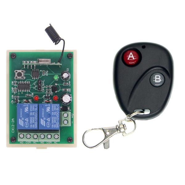 DC 12V 24V 2 CH 2CH RF Wireless Remote Control Light Motor Switch System, Transmitter + Receiver
