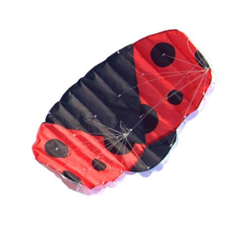 New High Quality 1.4m Ladybug Dual Line Parafoil Parachute Kites Sports Beach With Kite Handle and String Easy to Fly