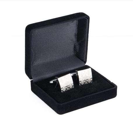 Высокое качество мужская запонка Squre лазерное серебрение свадьба запонки 197a