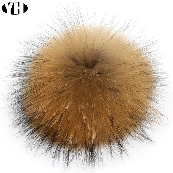 Hot sale Real Natural Raccoon Fox Fur Pompoms Fur Balls For Keychain and Scarves Real Pom poms customized wholesale