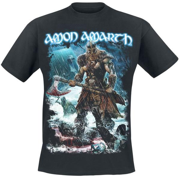 Amon Amarth Jomsviking Camiseta negra Classic Quality High camiseta Style Round Style camiseta Tees Custom Jersey camiseta