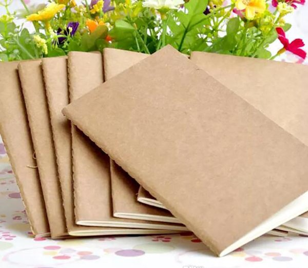 top popular A5 cowhide notebook paper blank notepad book vintage Kraft paper Easy to carry Small notebook Graffiti sketch Creative Simple stationery 2021