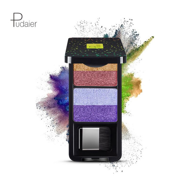 2018 Pudaier Nine Stype Makeup Eyeshadow Palette 4 Color Nude Pigment Waterproof Shimmer Glitter Eye Shadow with Brush Kits 480pcs