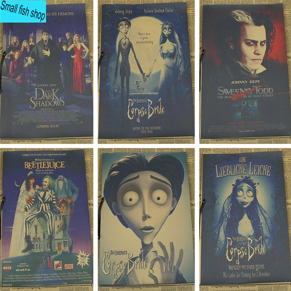 Enjoyable Tim Burtons Corpse Bride Tim Burton Johnny Depp Home Furnishing Decoration Kraft Movie Retro Poster Drawing Core Wall Stickers Sticker On Wall Decor Pdpeps Interior Chair Design Pdpepsorg