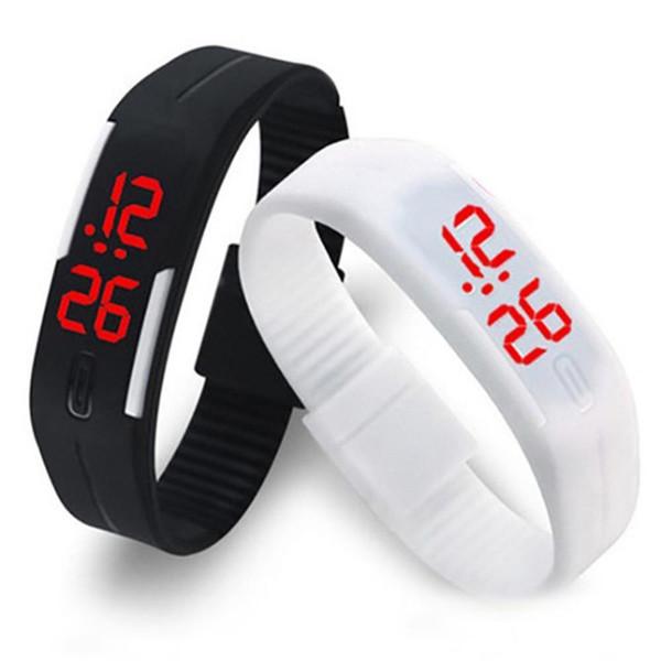 Niños Electronic LED reloj digital Hombre Ladies Morning Running Reloj deportivo Silicone Led Sports Relojes Hombres Mujeres Vestido Reloj