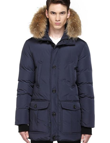 Wholesale Winter Classic Luxury Parajumpers men's Brand Goose Down Jacket Hoodies Fur Fashion Coats Men Warm Parka Down Coats Free shipping