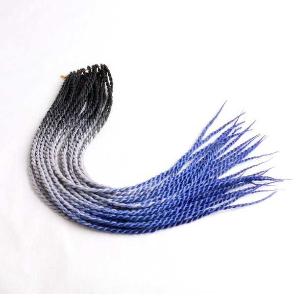 best selling Ombre Senegalese Twist Synthetic Braiding Hair 24inch Three Color Synthetic Crochet Braids Hair Extensions In Stock