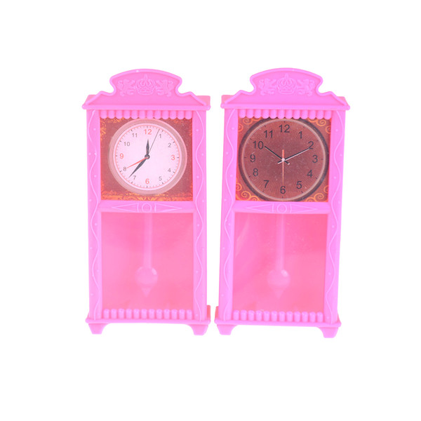 1:12 Dollhouse Miniature Wooden Classical Desk Clock Classic Furniture Toy   OT