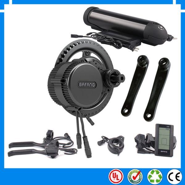 48 V 750 Watt BBS02 Bafang mittelantrieb elektromotor kit mit 48 V 10,4 Ah Li-Ion wasserflasche ebike batterie