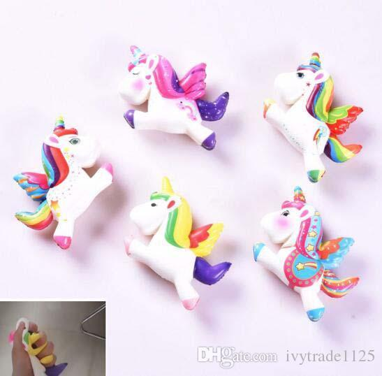 5 Styles Super Soft Squishy Slow Rising Unicorn Pony Toys Squeeze Decompression toys