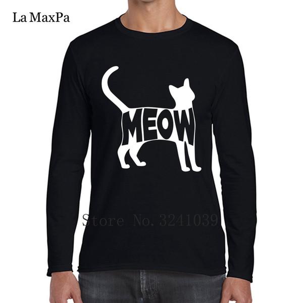 La Maxpa Crazy Tee Shirt Cat Funny Gift Love T-Shirt Men winter Plus Size 3xl Gents Regular Tshirt For Men