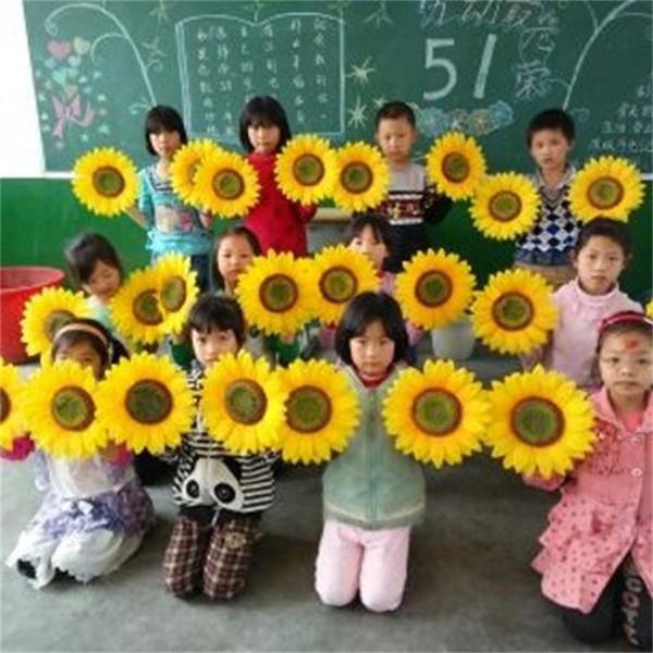 Artificial Cloth Sun Flower Perform Festival Celebrate Stage Prop Kindergarten Show Sunflower Children Kids Dance Decoration 20hl9 hh