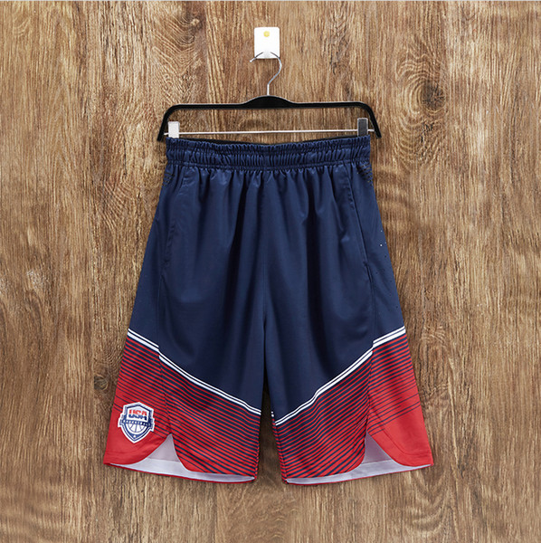 best selling USA Team Durant Basketball Shorts Training Shorts Men's Basketball Dream Team Hardenwese breathable shorts,free shipping