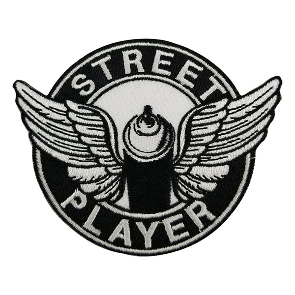 STREET PLAYER Embroidered Twill Patch Cartoon Iron On Patches Kids DIY Cute Sewing Embroidered Patches For Clothing